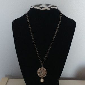 Sterling Silver Sand Dollar Pearl Necklace